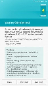 Samsung Galaxy Note 5 обновляется до Android 7.0 Nougat