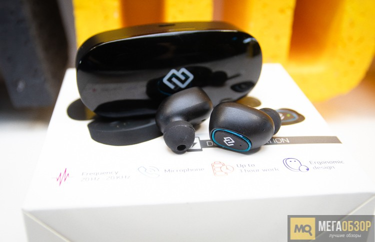 обзор Digma Tws 03 Bluetooth наушники с микрофоном Mega Obzor