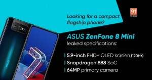 ASUS ZenFone 8 Mini с OLED-дисплеем и частотой 120 Гц