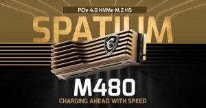 MSI представила твердотельный накопитель SPATIUM M480 HS с фирменным радиатором