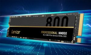 Lexar представила твердотельный накопитель NVMe Professional NM800