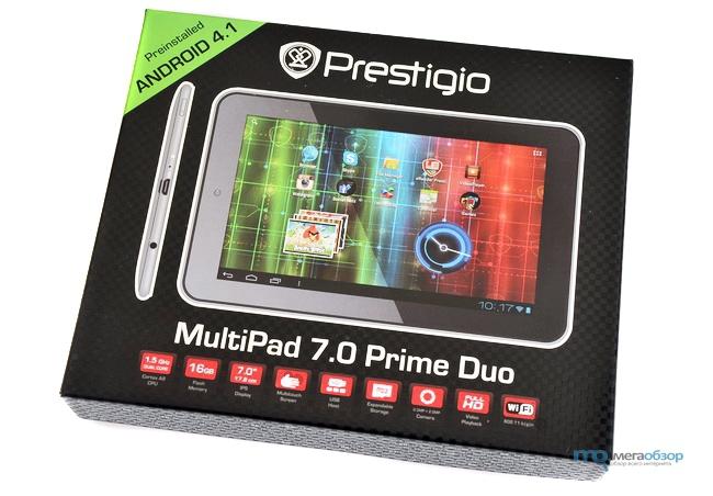 Упаковка Prestigio MultiPad 7.0 Prime Duo