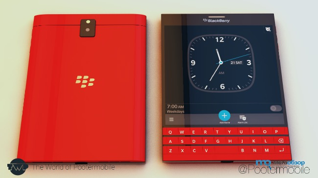 Смартфон blackberry passport красный