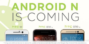 Android N скоро доберется до HTC 10, One M9 и One A9